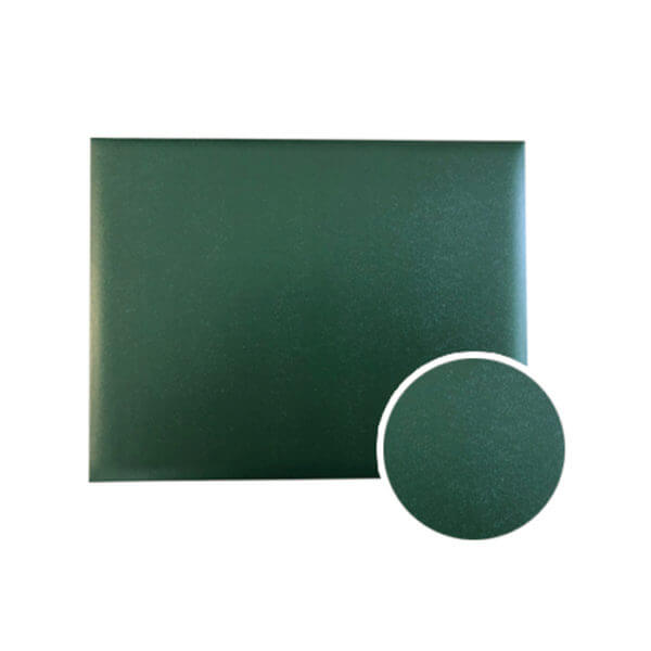Diploma Cover Hunter Green Grained