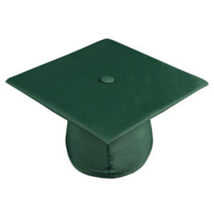 Graduation Cap Hunter Green
