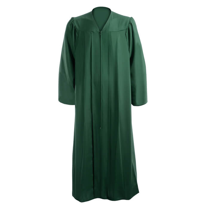 Graduation Gown Hunter Green Caps And Gowns