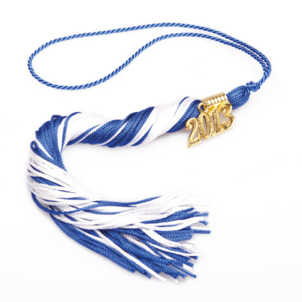 Tassel Blue-White