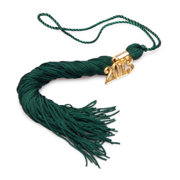 Tassel Hunter Green Graduation Cap